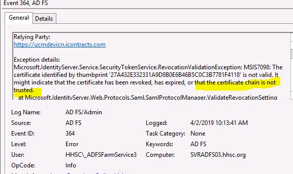 An error SAML response status was received  urn:oasis:names:tc:SAML